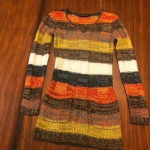 Ultra Flirt Small Chunky Sweater Or Dress  Multi